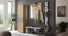 brick garderoba modulara lemn masiv cu beton aparent